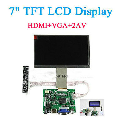7 Inch TFT LCD Display Monitor For Raspberry Pi B+ + Driver Board HDMI VGA 2AV