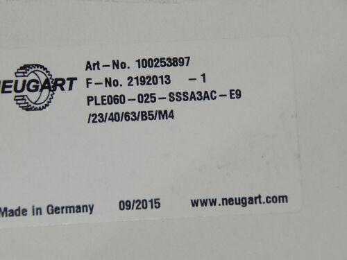 Neugart ple 60 ple60 I = 25 100253897 aufsteckgetriebe New