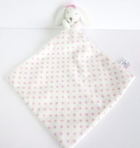 Next-white-pink-bunny-rabbit-polka-dot-baby-soft-comforter-toy-blankie-doudou