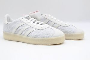 huge selection of 418c2 27a61 Image is loading Adidas-Consortium-x-Juice-Gazelle-Primeknit-White-Nubuck-