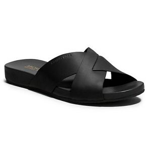 01b218cfcb32 Image is loading NEW-MICHAEL-Michael-Kors-Somerly-Slide-Sandals-Flip-