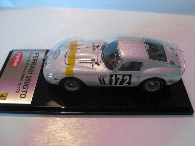 Kyosho Ferrari 250  GTO Tour de France 1964 No. 172 1 43 Nouveau dans neuf dans sa boîte 05121d  avec 100% de qualité et 100% de service