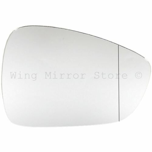 Right Driver Side WIDE ANGLE WING DOOR MIRROR GLASS For Peugeot 508 2011-17