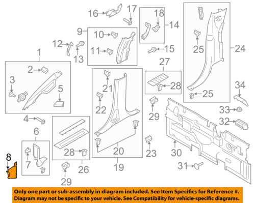 FORD OEM 15-18 F-150 Interior-Cowl Kick Panel Cover Right FL3Z15023A98AC