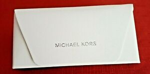 NEW-Michael-Kors-SUNGLASSES-CASE-Medium-White-w-Cleaning-Cloth-Brand-New-w-tag