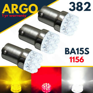 1156-Ba15s-382-Reverse-Led-White-P21w-Amber-Indicator-Red-Fog-Brake-Light-Bulb