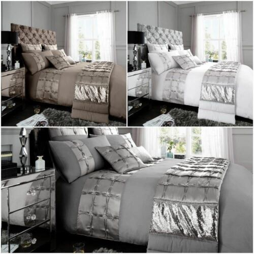 Adriana Diamante Luxurious Duvet Cover Sets Quilt Covers Bedding Sets All Sizes