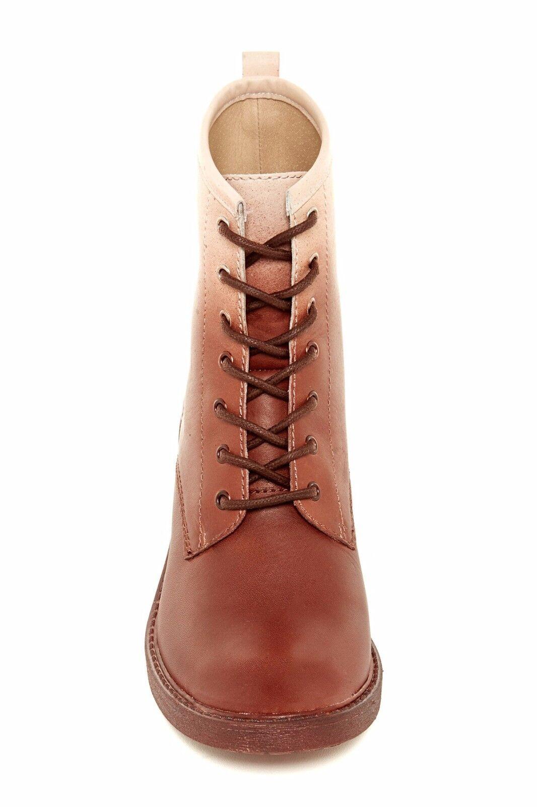 New Lucky Brand Novembere Lace-Up Leder Leder Lace-Up  Stiefel Damens's sz 6 e4f4c4