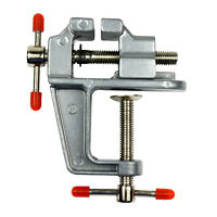 3.5 Miniature Vise Small Jewelers Hobby Clamp On Table Bench Tool Vice Aluminum