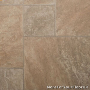Image Is Loading Beige Slate Vinyl Flooring Roll Random Tile