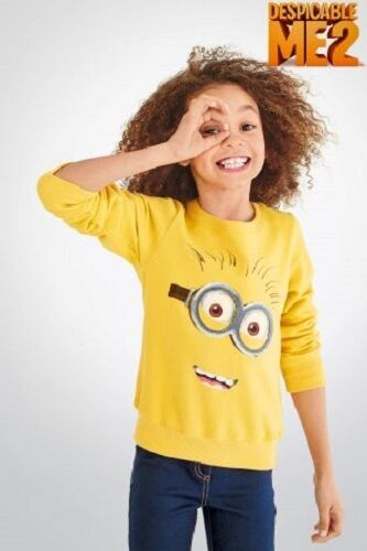 BNWT Next Girls Yellow Minions Jumper Sweater Top 3-4-5-6 Years Choice Boys