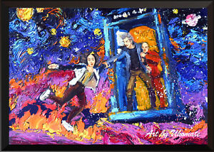Art Print POSTER CANVAS Dr Who Space Tardis#20