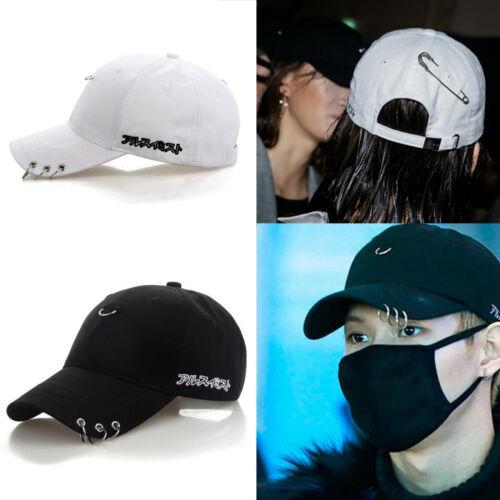 Snapback Hats BTS Jimin Fashion K Pop Iron Ring Hats Adjustable Baseball Cap