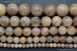Natural-Sunstone-Gemstone-Round-Loose-Beads-6mm-8mm-10mm-12mm-14mm-16mm-15-5-039-039