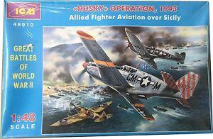 ICM-Operazione-Husky-1943-Alleati-Fighter-Aviazione-over-Sicilia-Rif-48910-Esc-1
