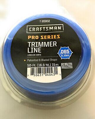 "Craftsman 85902 Line Trimmer Cutting Line .065/"" Weed Wacker Eater 50 Feet"