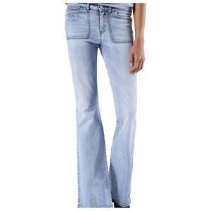 Diesel-jeans-Sandy-B-regular-slim-bootcut-regular-waist-womens-flared-27W-34L