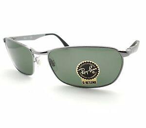 70c200b1f0b Ray Ban 3534 004 Gunmetal G15 Green New Sunglasses Authentic