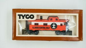 Vintage-Illinois-Central-Gulf-8-Wheel-Caboose-TYCO-HO-Scale-in-box-Model-train
