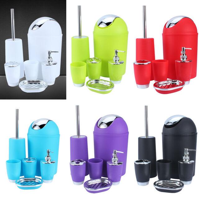 Light Green 5PCS ResinToilet Bathroom Accessory Set Toothbrush Holder Soap Dish