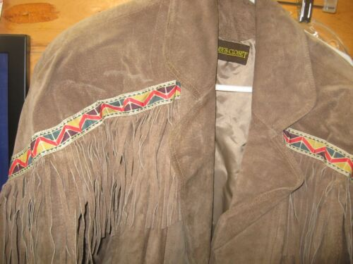 Fringed Bobbys Closet Læder Jacket Style Southwest L10 Cool HSwyPqv