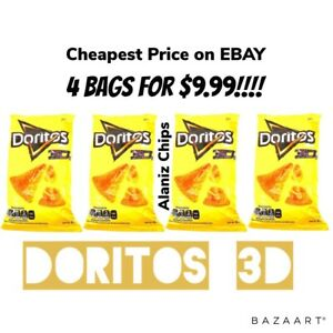 Doritos-3D-queso-Mexican-chips-Sabritas-4-BAGS-NEWLY-AVAILABLE-HARD-TO-FIND