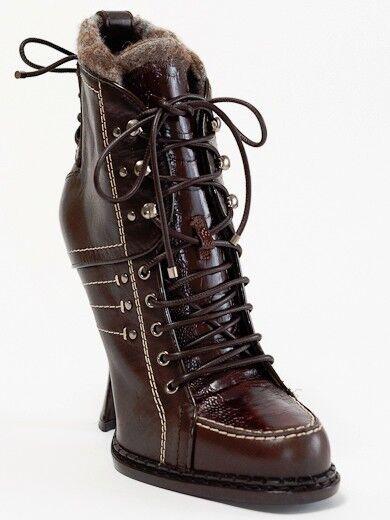 New Christian Dior Montagne Chocolate Short Stiefelies 36.5 US 6.5 6.5 6.5 f22e90