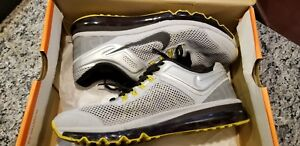 67b380f9851 Details about Nike Livestrong Airmax 2013 size 9.5 Mens. Gray/black/yellow  RARE w/ box