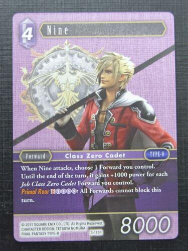 Final Fantasy Cards NINE 3-113R # 1I40