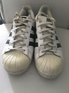 Adidas superstar size 6 White with