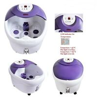 Foot Spa Bath Massager Massage W/ Rolling Vibration Heating Therapy Hot Tub