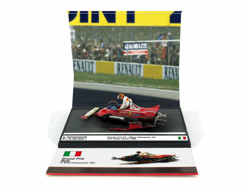 Ferrari 312 T5 G. Villeneuve 1980  2 Italy GP 'RASAERBA' Limited 250 pcs 1:43