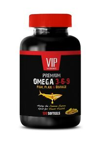 Fish Oil Premium Omega 3 6 9 Fish Flax And Borage 1 Bottle