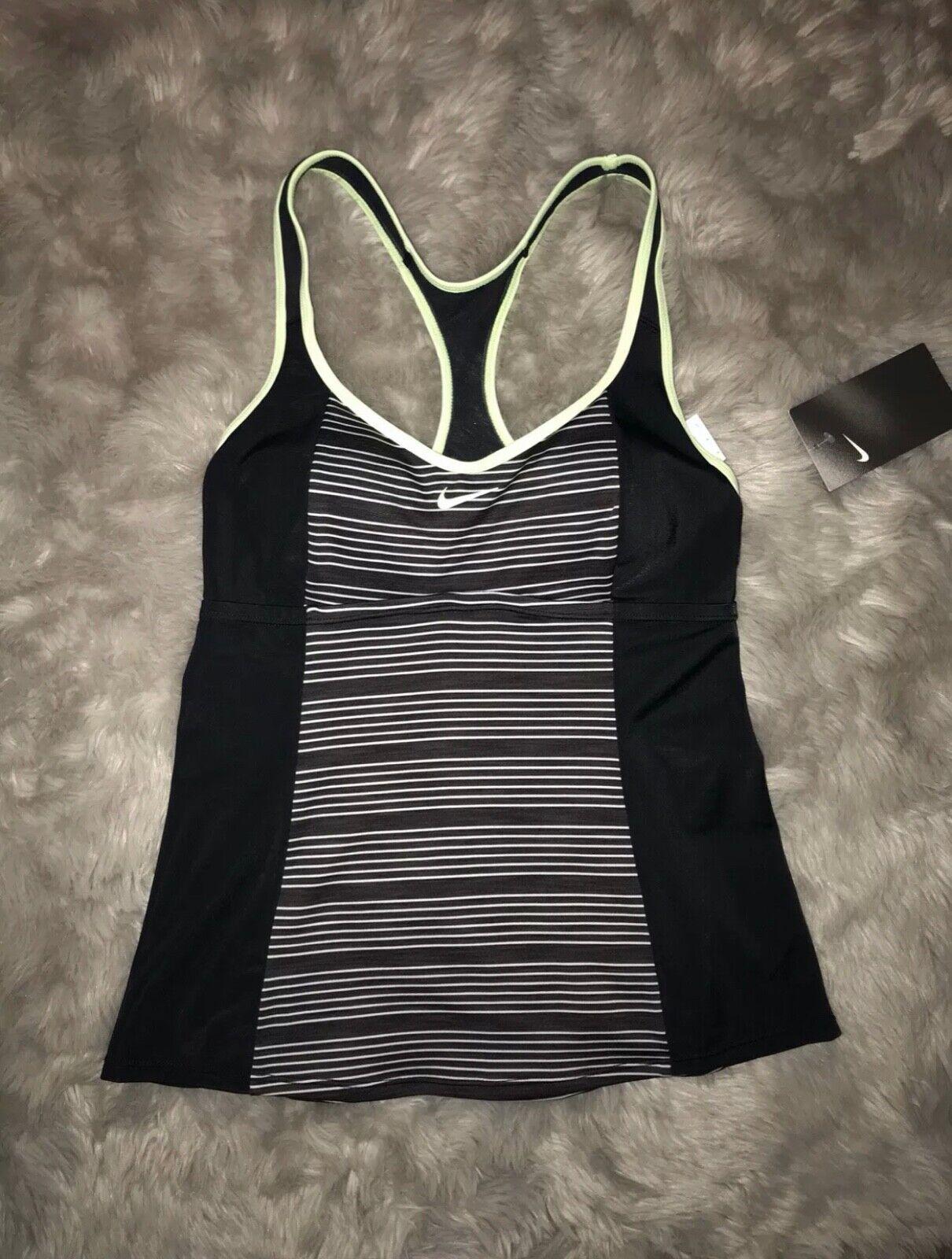 Nike Blue Striped Racerback Tankini Top Swimwear Women/'s Small,Medium #KO15062