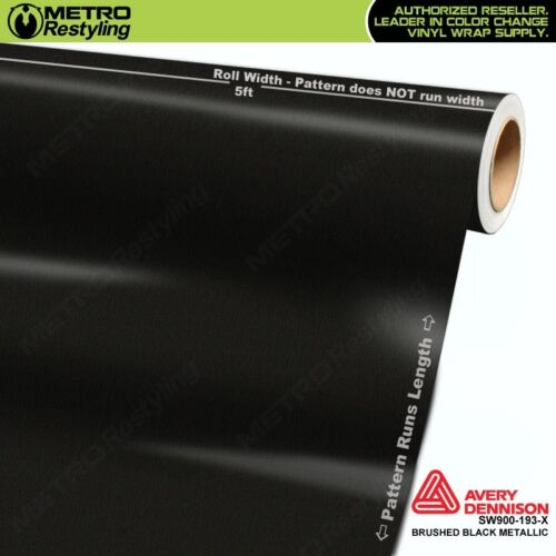 Avery Supreme BRUSHED BLACK METALLIC Vinyl Vehicle Car Wrap Roll SW900-193-X