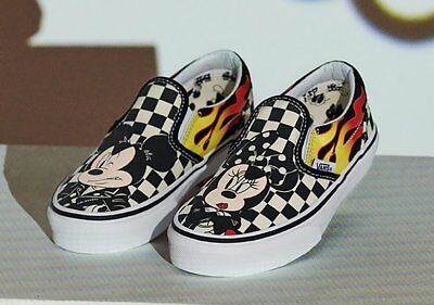New in Box Vans Limited 90th Anniv Disney Mickey & Minnie Carreaux Slip on VN0A38F7UJ4 | eBay