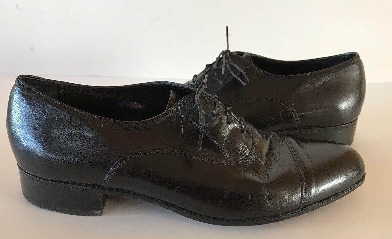 FLORSHEIM Men's Black Leather Captoe Dress 437029 Oxfords Size 9 D 437029 Dress 312194