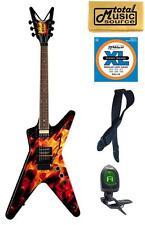 Dean DIMEBAG Dime O Flame Guitar, Floyd Rose, FREE STRINGS TUNER STRAP CLOTH ,DB