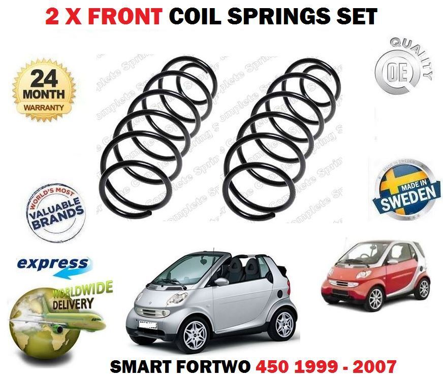 For Smart Fortwo 450 0.6 0.7 0.8 CDI 1999-2007  NEW 2x Front Coil Springs Kit  sale online discount