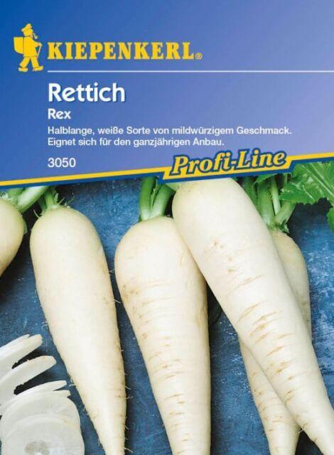 Kiepenkerl - Rettich * Rex * 3050 Halblange weiße für den ganzjährigen Anbau
