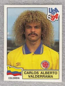 Sticker football CARLOS VALDERRAMA Colombia FIFA WC USA 1994 Panini #62
