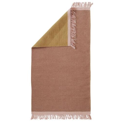 Aspegren Teppich 70 x 130 cm Kelim Solid Honey Rosa Gelb Läufer Wolle Design