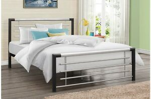 Modern Sleek Steel Bed Frame 3FT 4FT 4FT6 5FT