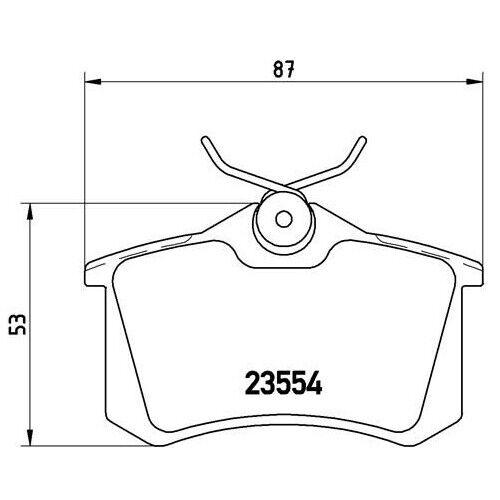P 83 069 Bremsbelagsatz Bremsklotz Bremsklötze Bremse Bremsen BREMBO