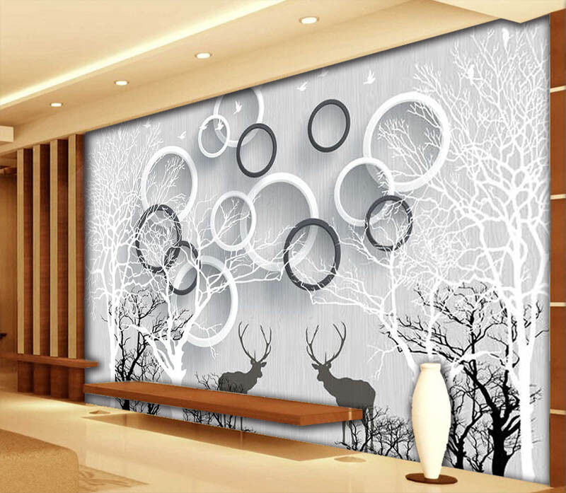 StaggeROT Ring 3D Full Wall Mural Photo Wallpaper Printing Home Kids Decoration