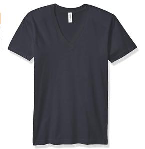 Marky-G-Apparel-Men-039-s-Fine-Jersey-V-Neck-T-Shirt-Short-Sleeve-Asphalt-XX-Large