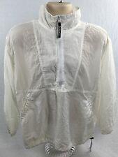 Team USA Jacket Vintage White Mesh Olympic Nylon Size Large Half Zip Lightweight
