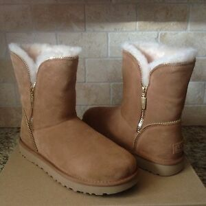 ee817338b11 Details about UGG Classic Short Florence Chestnut Suede Sheepskin Boots  Size US 10 Womens NIB