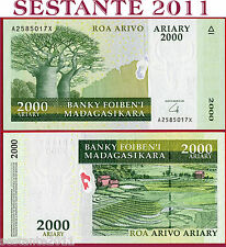 MADAGASCAR - 2000 ARIARY nd 2008 - Prefix A - HIBRID SUBSTRATE - P 90b - FDS/UNC