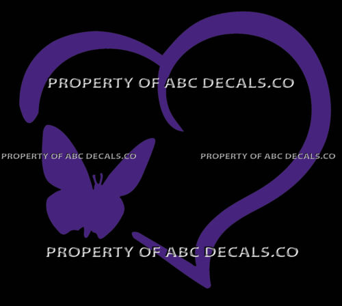 VRS HEART Outline BUTTERFLY Monarch Smooth Fly Caterpillar Kit CAR VINYL DECAL